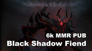 Black plays Shadow Fiend 6k MMR USE PUB Dota 2