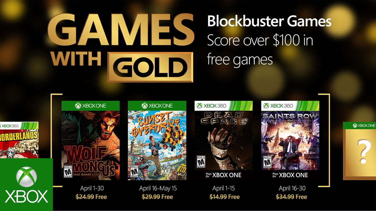 Jump Into Spring With Blockbuster Games With Gold In April