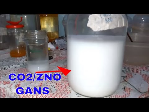 How to make Co2/Zno and Other GANSes with pure zinc sheet and carbon rods from the batteries part 2