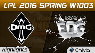 OMG vs EDG Highlights Game 2 Tencent LPL LoL Pro League 2016 W10D3 OMG vs Edward Gaming