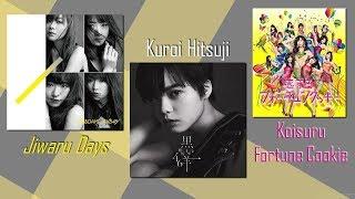 "[UNBOXING] AKB48 ""Jiwaru Days"", AKB48 ""Koisuru Fortune Cookie"" e Keyakizaka46 ""Kuroi Hitsuji"""