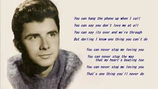 Johnny Tillotson   YOU CAN NEVER STOP ME LOVING YOU