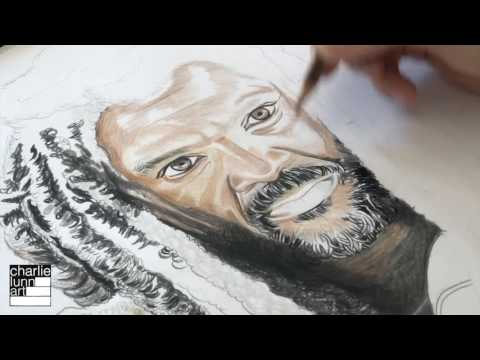 Speed Drawing King Ezekiel - The Walking Dead Time Lapse