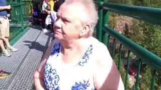 71 Year Old Grandma Goes Bungee Jumping!