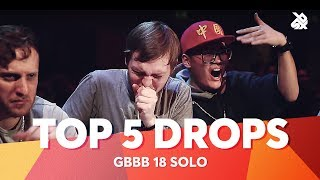 TOP 5 DROPS 😱 Grand Beatbox Battle Solo 2018