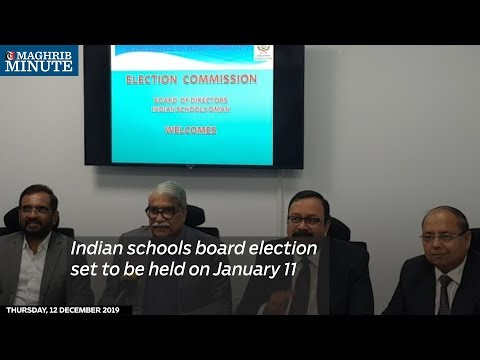Indian schools board election set to be held on January 11