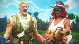 CIZZORZ + MOM?! (Dad on Microphone) Random Duos Gameplay in Fortnite!!!