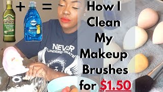 How To: Clean Makeup Brushes | Fast, Easy & Cheap