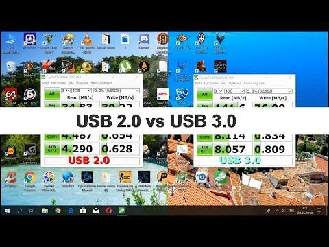 USB 2 0 vs USB 3 0 тест скорости