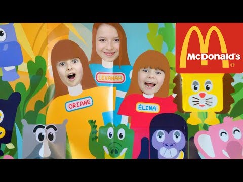 ENOOORME SURPRISE ! On les adore ! McDonald's, le HAPPY MEAL et ses ANIMAUX SAUVAGES