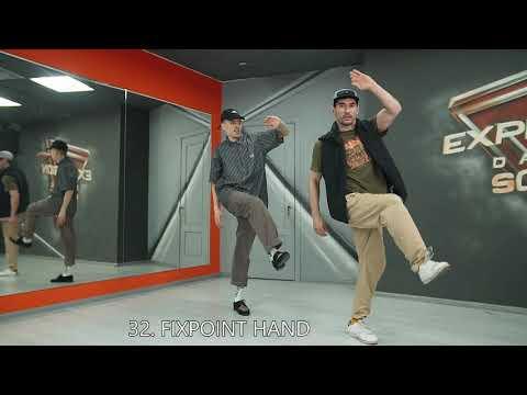 50 FRESNO variations / Popping dance tutorial / Maximus & Nikki Pop