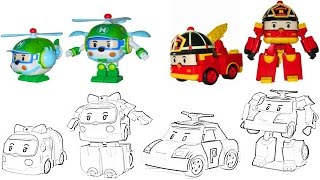 Robocar Poli Coloring Pages For Kids