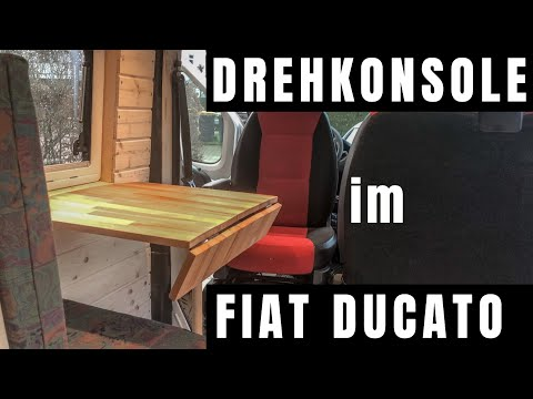 Drehkonsole im Fiat Ducato - Fahrersitz drehen trotz Doppel-Beifahrerbank