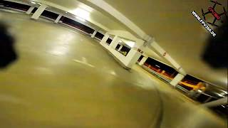 DJI Digital FPV System Goggle DVR from a carpark session with subtitles