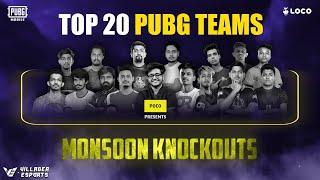 [Day 4] Loco PUBG Mobile Monsoon Knockouts • Poco x Loco x Villager Esports