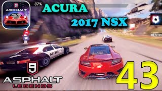 ASPHALT 9 LEGENDS - ACURA 2017 NSX GAMEPLAY ( iOS / Android )
