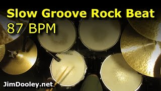 Backing Track - Slow Groove Rock Drum Beat 87 BPM