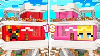 Minecraft MILLIONAIRE House Battle vs My Wife!