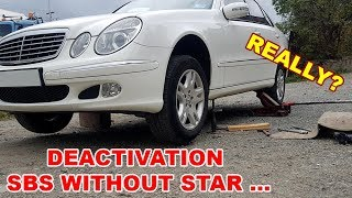 Deactivation and Activation SBC Without Star Diagnosis at Home on Mercedes W211, CLS, R230