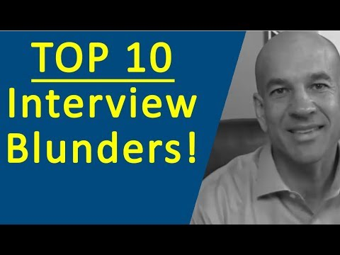 Top 10 Job Interview Mistakes - Training Module 1 - YouTube