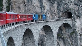 preview picture of video 'Bernina Express - Part 2 - Brusio to Thusis.'