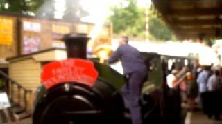 preview picture of video 'An 0-6-0 tank engine giving some serious thrash at the Fawley Museum'