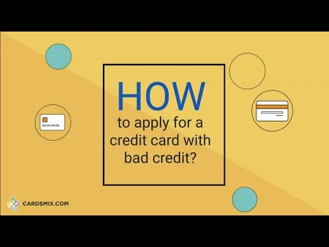 How to get a credit card for bad credit