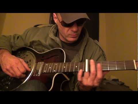 """She's Leavin' The Bank"" from 'Paris, Texas' - Open C# Slide - SX Resonator Acoustic cover take"