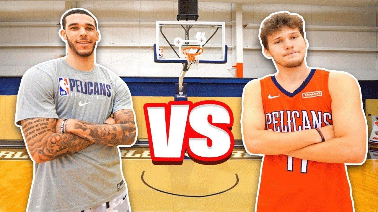 Epic NBA Basketball QnA TRICKSHOTS vs Lonzo Ball! Screenshot Download