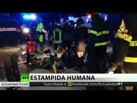 Colapso de una plataforma junto a un club en Italia deja al menos 6 muertos
