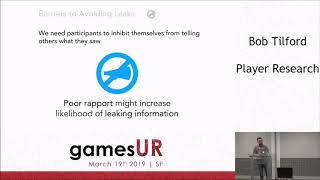 Rapport and participant interaction in games user research
