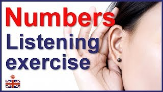 English listening exercise - Understand numbers