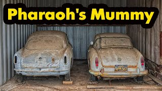 The cars were walled up in a barn like a pharaoh's mummy for 42 years! Abandoned Alfa Romeo
