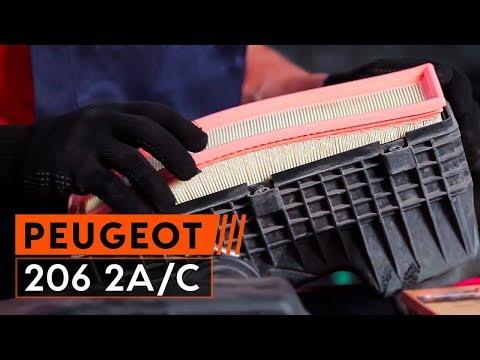 Wie PEUGEOT 206 2A/C Schräghec Luftfilter wechseln [TUTORIAL AUTODOC]