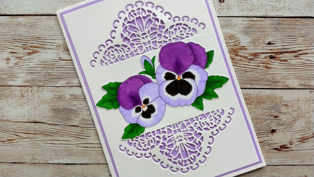 Colouring Pansies