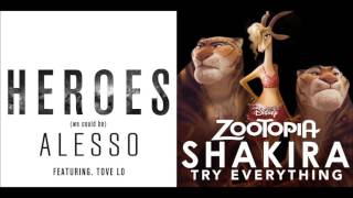 Heroes (We Could Try) - Alesso ft. Tove Lo & Shakira Mashup