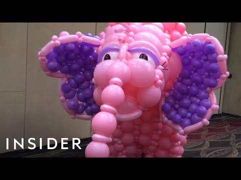 Fun Elephant Balloon Costume Controlled by Two People