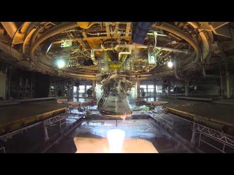 J-2X engine gimbal testing