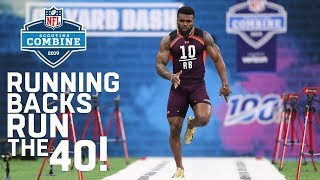 Running Backs Run the 40-Yard Dash   2019 NFL Scouting Combine Highlights
