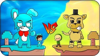 ISLA de TOY BONNIE VS ISLA de GOLDEN FREDDY FNAF 😱 BEBE MILO y VITA MINECRAFT ROLEPLAY ISLA VS ISLA