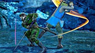 Soul Calibur 6 - Big Boss vs Link Gameplay (1080p 60fps)