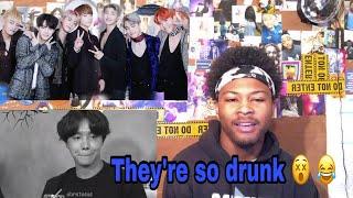 BTS Drunk Antics | Reaction