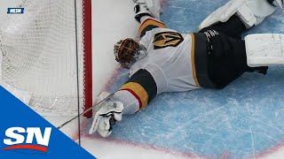 Golden Knights' Subban Makes Snow Angel Save To Save Goal