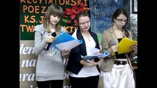 preview picture of video 'Poezja ks. Jana Twardowskiego 20.12.2012'