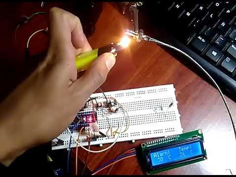 alarma de temperatura (por termocupla tipo k) programable