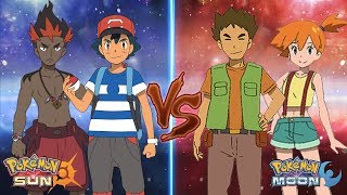 Misty  - (Pokémon) - Pokemon Sun and Moon: Ash and Kiawe Vs Brock and Misty