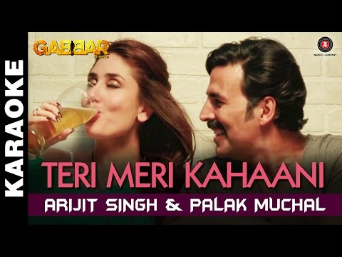 Teri Meri Kahaani - Karaoke + Lyrical