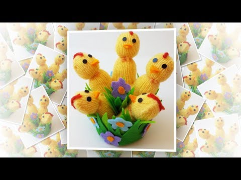 Easter Chicks from Gloves easy craft tutorial