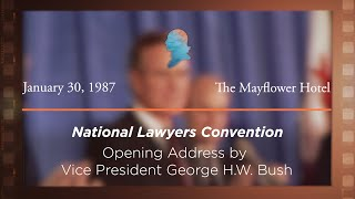 Click to play: Opening Address by Vice President George H.W. Bush [Archive Collection]