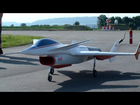 R/C Rockwell RPRV-870 HiMAT NASA Highly Maneuverable Aircraft Technology Payerne 2015 R/C Air-Show